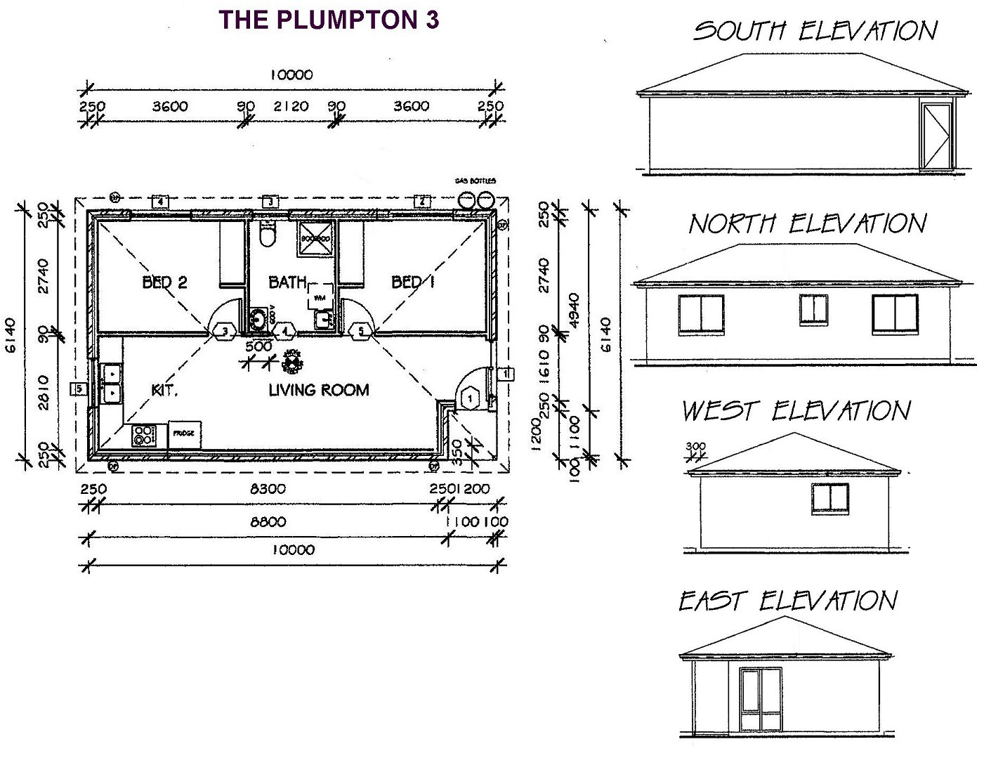 All purpose homes granny flat designs for 3 bedroom granny flat designs